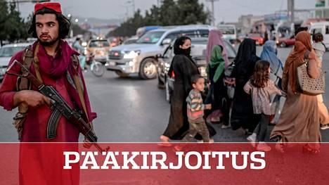 Talebanin läsnäolo Kabulissa on näkyvää. Kuva pääkaupungista 30. syyskuuta.
