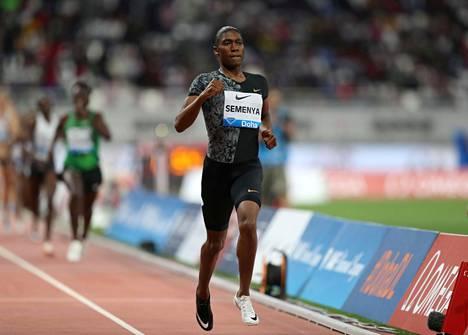 Caster Semenya on juossut kovia tuloksia.