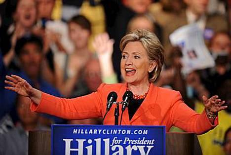 Hilary ei anna periksi, vaikka mahdollisuudet päästä demokraattien presidenttiehdokkaaksi ovat olemattomat.