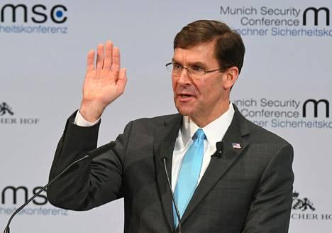 Yhdysvaltain puolustusministeri Mark Esper.