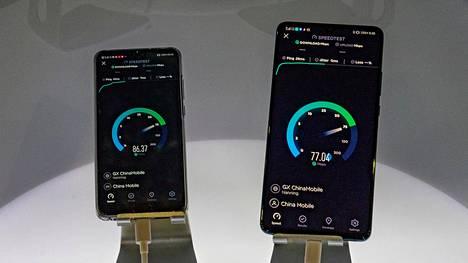Huawein laitteilla testattiin 5g-nopeuksia Kiinassa lokakuussa.