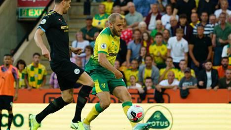 Teemu Pukin lapikas lauloi heleästi Carrow Roadilla syyskuussa 2019, jolloin Norwich kaatoi Manchester Cityn 3-2.