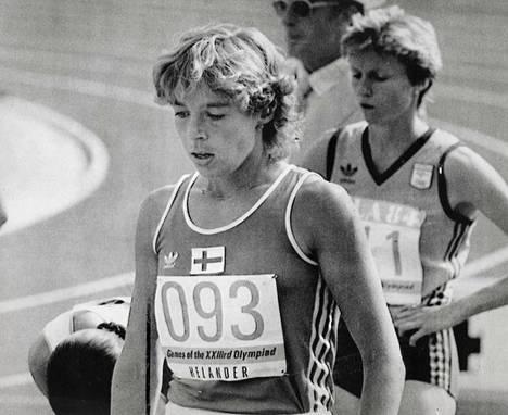 Tuija Helander oli finaalissa jo 1984 Los Anglesissa, vahvan itäblokin boikotoimissa olympiakisoissa.