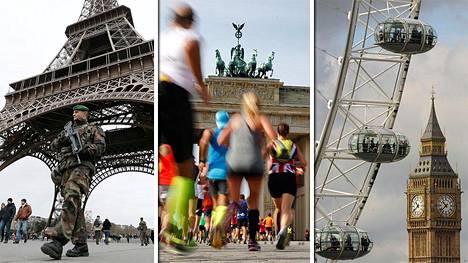 Pariisi, Berliini, Lontoo – isku suurkaupunkiin kasvattaa terroriteon huomioarvoa.