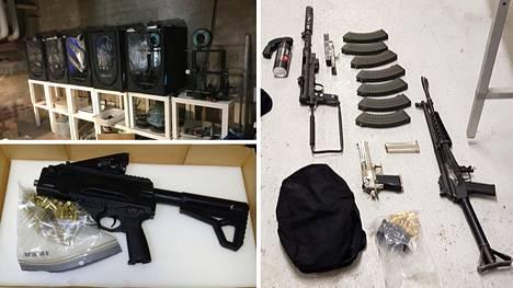 Operaatiossa on takavarikoitu muun muassa aseita ja 3d-tulostimia.