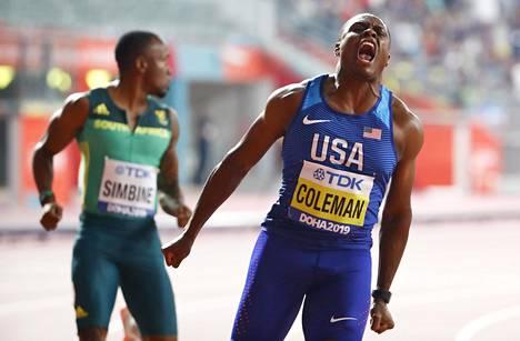Maailmanmestari Christian Colemanin voittokarjaisu.