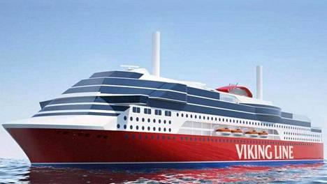 Yhtiön julkaisema havainnekuva siitä, miltä uusi laiva voisi näyttää.