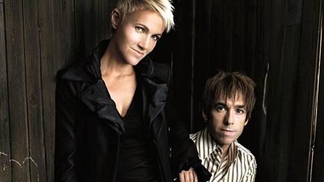 Marie Fredriksson ja Per Gessle vuonna 2002.