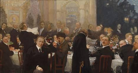 Suomen suurmiehiä (1920-1927) oli Ilja Repinille kivulias projekti. Sen valmistuminen vei vuosia ja maalauksen vastaanotto julkistamisen jälkeen ei ollut mairitteleva.