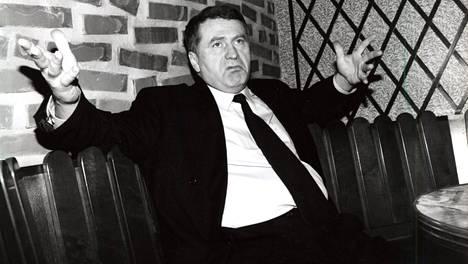 Vladimir Zhirinovski vieraili Suomessa vuonna 1994.