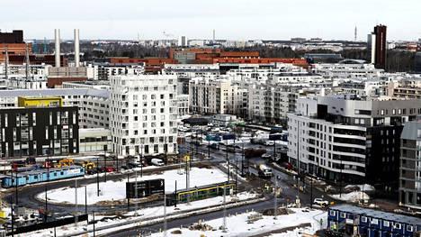 Suomessa asuntojen hinnat ovat kehittyneet vakaasti viimeiset viisi vuotta. Kuvassa on Helsingin Jätkäsaarta.