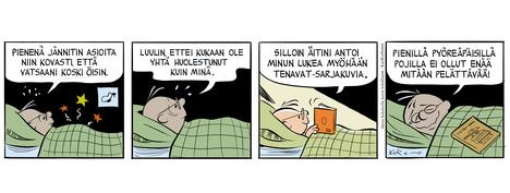 Katja Tukiaisen, Jarkko Vehniäisen, Tiina Pajun ja Kari Korhosen kunnianosoitukset Charles M. Schulzille.