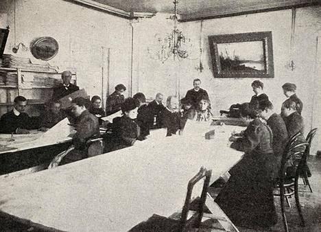 Ääntenlaskijoita töissä Mikkelissä 1907.