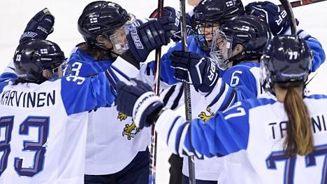Suomen naisten jääkiekkomaajoukkue saavutti pronssia Pyeongchangin olympialaisissa 2018.