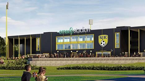 Seinäjoen uuteen jalkapallostadioniin tulee noin 6000 katsomopaikkaa.