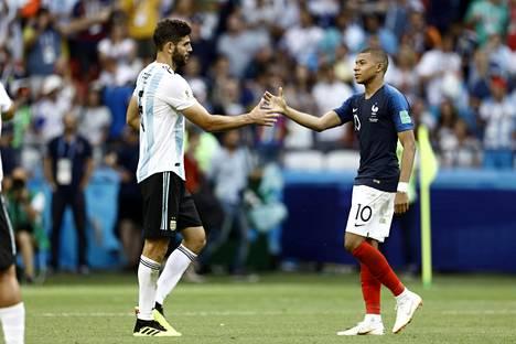 Kylian Mbappe oli isossa roolissa, kun Ranska pudotti neljännesvälierissä kovin odotuksin MM-kisoihin lähteneen Argentiinan.