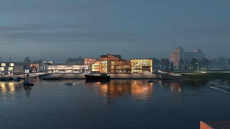 Uusi museo on suunniteltu voittajatyössä veden äärelle.