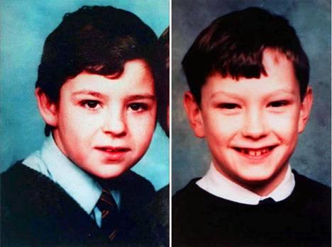 Jon Venables (oikealla) ja Robert Thompson tuomittiin teosta heidän ollessaan vain 10-vuotiaita.