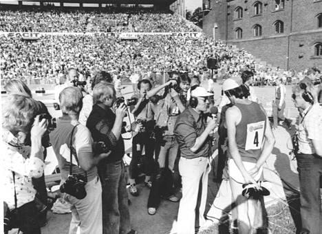 Pekka Päivärinta oli suuri suomalaissankari Tukholman olympiastadionilla 40 vuotta sitten.