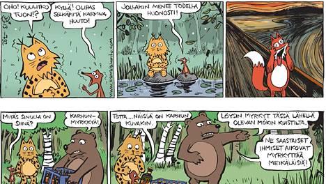 Jarkko Vehniäisen Kamala luonto on Ilta-Sanomien lukijoiden sarjissuosikki.