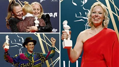 Tove-elokuvan tähti Alma Pöysti voitti parhaan naispääosan Jussi-palkinnon.