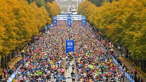 Kuva viime vuoden Berliinin maratonilta.