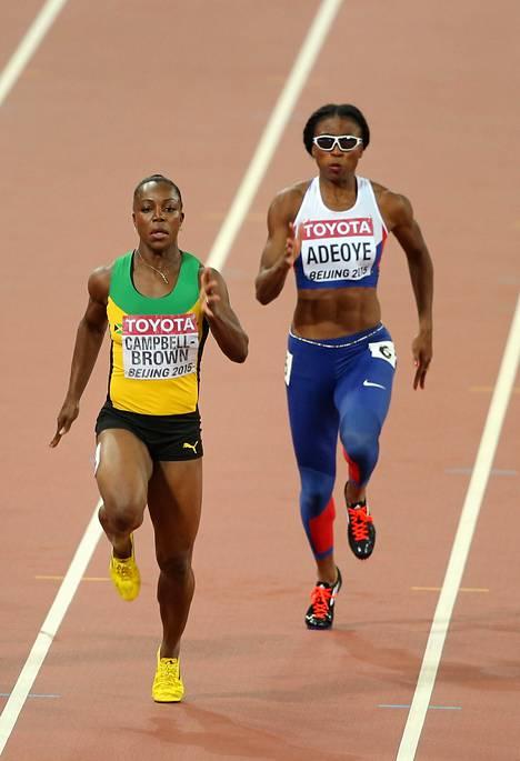 Kuva näyttää – näin lähekkäin juoksijat olivat toisiaan.