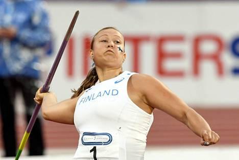 Heidi Nokelainen oli Roveretossa toinen tuloksella 57,13.