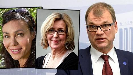Susanne Päivärinta, Riikka Uosukainen ja Juha Sipilä.