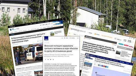 Turun saariston kotietsinnöistä ovat kertoneet Venäjällä muun muassa uutistoimistot Ria Novosti, Tass ja pietarilainen uutissivusto Fontanka sekä Kremliä lähellä oleva Life-uutissivusto.