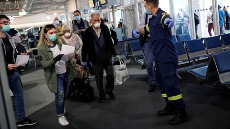 Ensimmäinen Lufthansan lento Ateenaan koronasulun jälkeen saapui 18. toukokuuta.