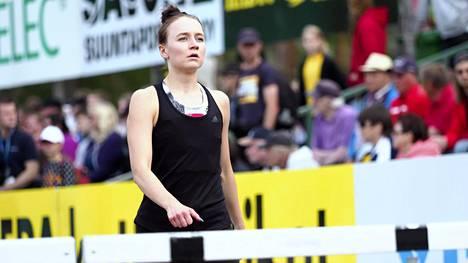 Reetta Hurske juoksi ennätyksensä Lapinlahdella.