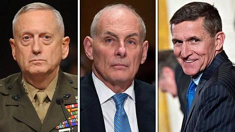 James Mattis, John Kelly ja Michael Flynn