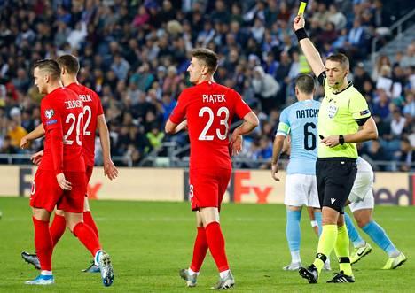 Mattias Gestranius (oik.) oli tositoimissa viimeksi 16. marraskuuta ottelussa Israel–Puola.