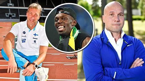Petri Keskitalo ja Petteri Piironen kehuvat Usain Boltin raameja ja räjähtävyyttä.