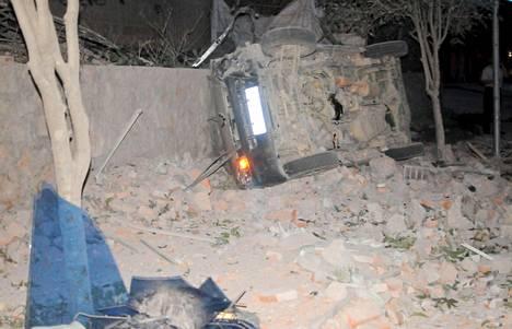 Räjähdyksen jälkiä Etelä-Kiinan Liuchengissa.