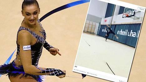 Katja Volkova kuvattuna huhtikuussa käydyssä olympiakarsinnassa. Karsinnat pidettiin tulevassa olympiakaupungissa, Riossa.