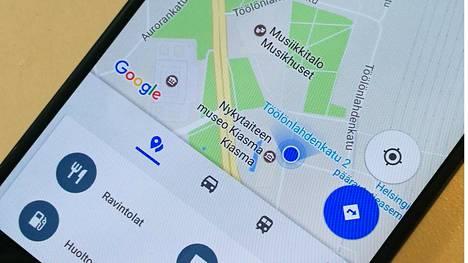 Google Maps Android-puhelimessa.