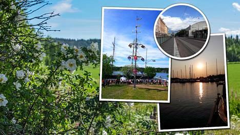 Keskikesän juhlaa on vietetty ympäri Suomea.