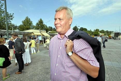 SDP:n puheenjohtaja, valtiovarainministeri Antti Rinne puolueen eduskuntaryhmän kesäkokouksessa Lappeenrannassa 11. elokuuta 2014.