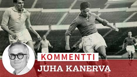 Aulis Rytkönen (oik.) valittiin ensimmäisenä jalkapalloilijana kymmenen parhaan joukkoon Vuoden urheilija -äänestyksessä.
