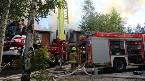 Kirkkonummella tapahtui tulipalo sunnuntaina.