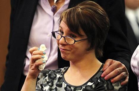 Michelle Knight oli yksi kidnapatuista naisista. Kuva vuodelta 2013.