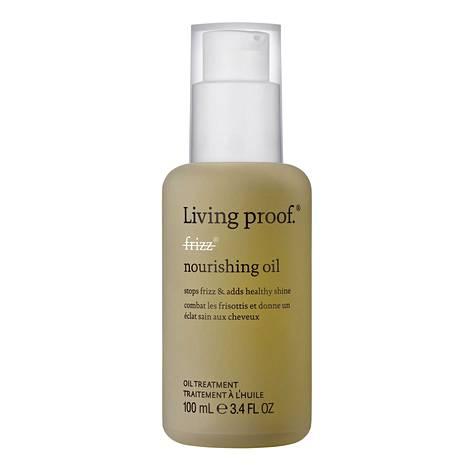 Living Proofin No Frizz Nourishing Oil -öljy hoitaa päänahkaa ja samalla silottaa tukkaa, 43 €.