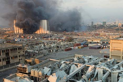 Räjähdys on aiheuttanut mittavia tuhoja lähialueilla.