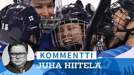 Suomi pelaa olympiamitalista naisten jääkiekossa.