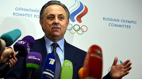 Vitali Mutko on Venäjän urheiluministeri. Kuva tammikuulta.