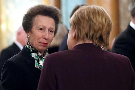 Prinsessa Anne keskusteli Saksan liitokanslerin Angela Merkelin kanssa.