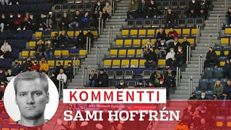 Kärppien ja HPK:n välisessä ottelussa oli vain reilut 3425 katsojaa, vaikka Raksilaan mahtuisi 6400, eikä rajoituksia Oulussa ole.