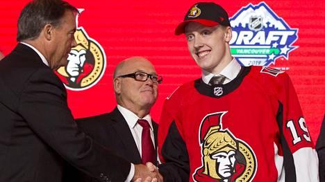 Ottawa Senators varasi ensimmäisellä kierroksella suomalaisen puolustajalupauksen Lassi Thomsonin.